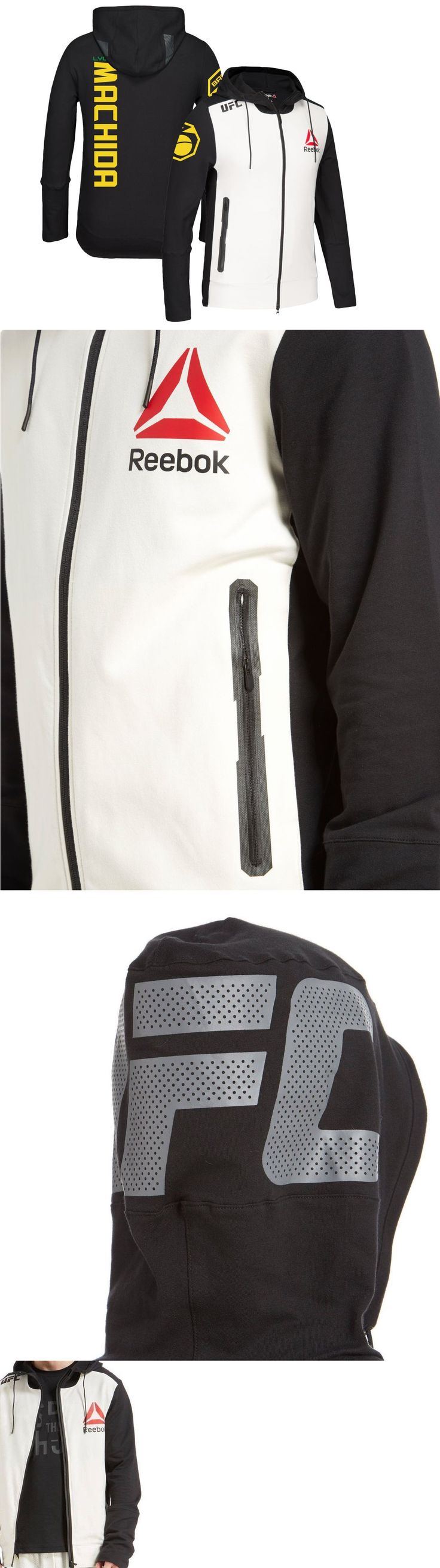 Shorts 73982: $129 Reebok Ufc Full Zip Jacket Machida Brazil Ufc Walkout Hoodie Fighter Kit -> BUY IT NOW ONLY: $65 on eBay!