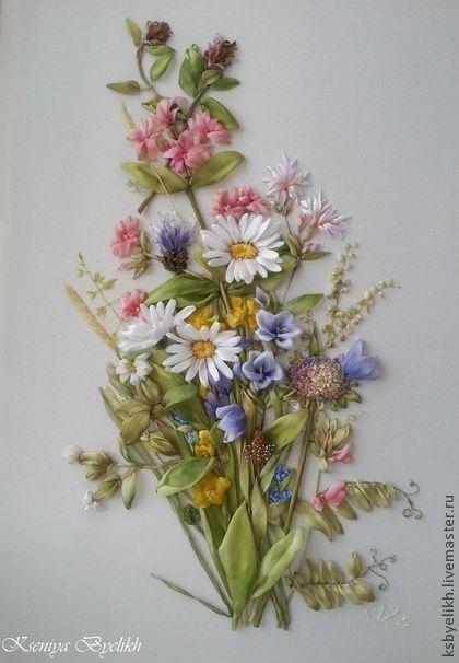 Картины цветов ручной работы. Ярмарка Мастеров - ручная работа Полевые цветы (Bastin Marjoleine). Handmade.