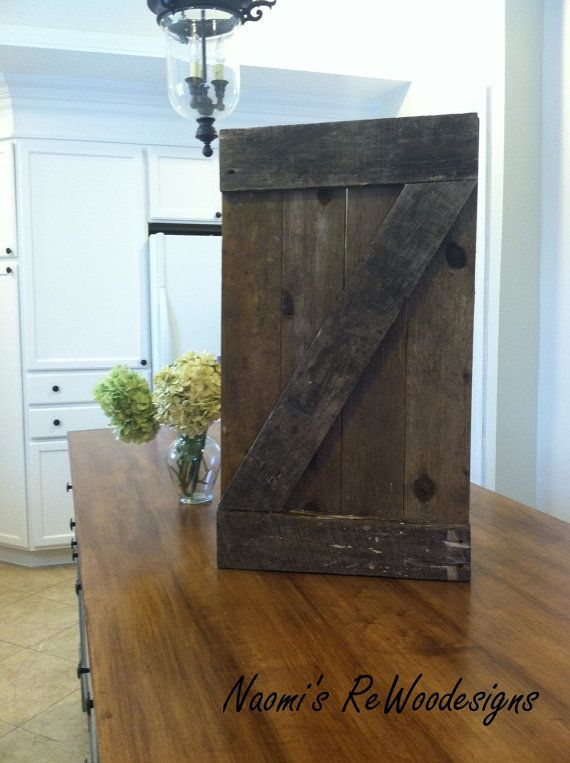 small rustic barn door wall art made with reclaimed wood. Black Bedroom Furniture Sets. Home Design Ideas