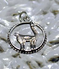 LOOK Sterling Silver Adorable detail Animal Llama cria camel Pendant Charm