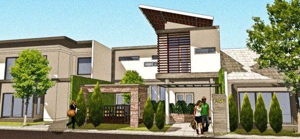 Offside House (Rumah dengan konsep kantilever)