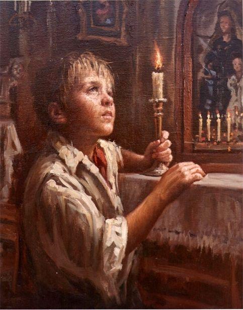Nello Lovine (Italian, 1935) - Preghiera (Prayer)