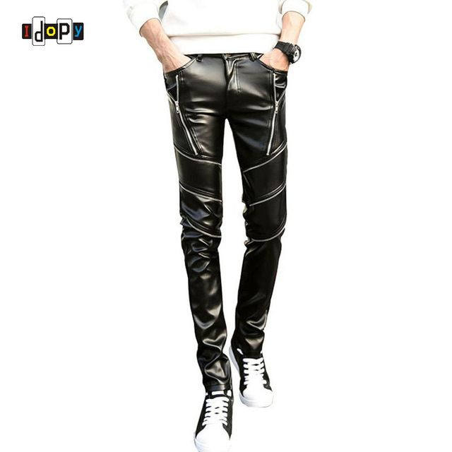 We love it and we know you also love it as well DJ Swag Skinny Mens Faux Leather PU Tight Black Joggers Biker Pants For Men Boys With Zippers just only $19.32 - 22.80 with free shipping worldwide  #pantsformen Plese click on picture to see our special price for you