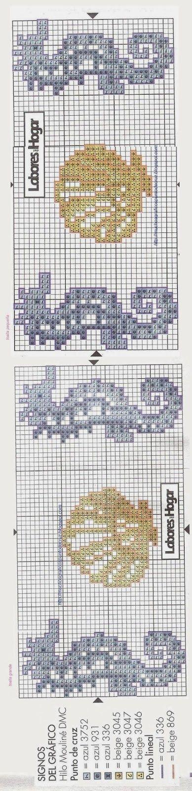 440 best punto de cruz y ganchillo images on Pinterest | Embroidery ...