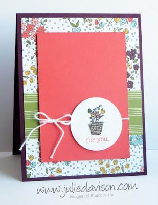 Sale-a-bration Sneak Peek: Pedal Pusher Flower Basket | Julie's Stamping Spot | Bloglovin'