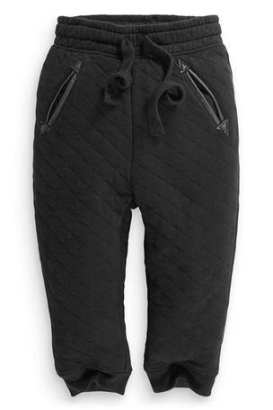 Buy Black Quilted Joggers (3mths-6yrs) from the Next UK online shop