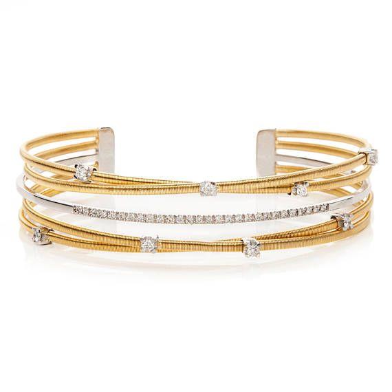 Natural Diamond Cuff, Diamond Bracelet, 18k Gold Bracelet, Gold Cuff Bangle, Solid Gold Bracelet, 18k Wedding Bracelet, Luxury Gold Bracelet
