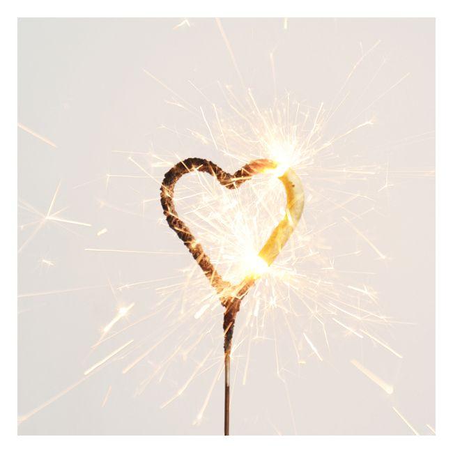 1 bougie étincelle : coeur doré