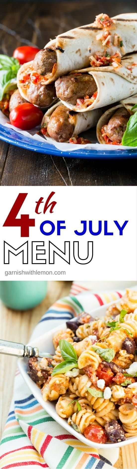 This 4th of July Menu is loaded with make-ahead recipes so you can relax and soak in the sights and sounds of the long holiday weekend, too.