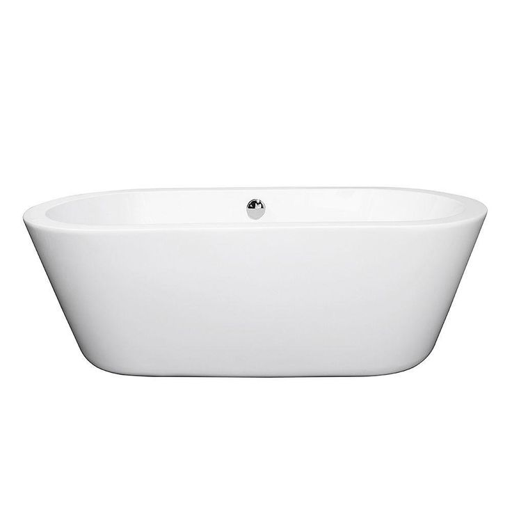 Deeper Than Your Standard Tub, With A Chic Rounded Look, The Mermaid Center  Drain