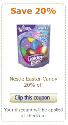Nestle Coupon SAVE ON NESTLE EASTER CANDY WITH AMAZON COUPON DEAL