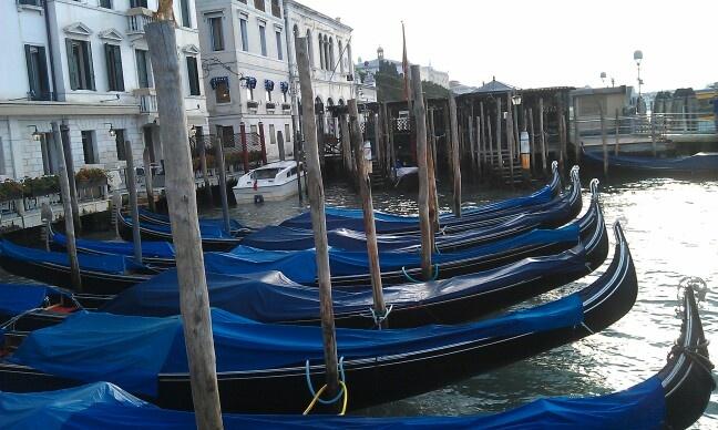 Gondolas in the morning
