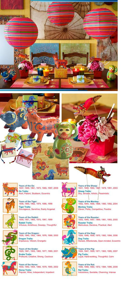 Chinese New Year - Such bright colourful decor!