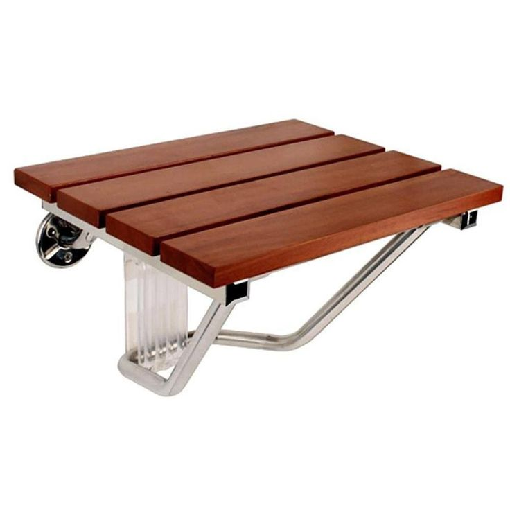 SteamSpa SS-F Teak Wood Wall Mounted Shower Seat