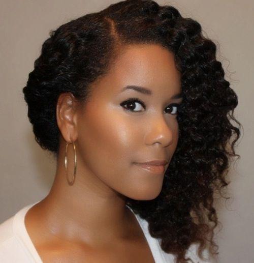 side natural curls
