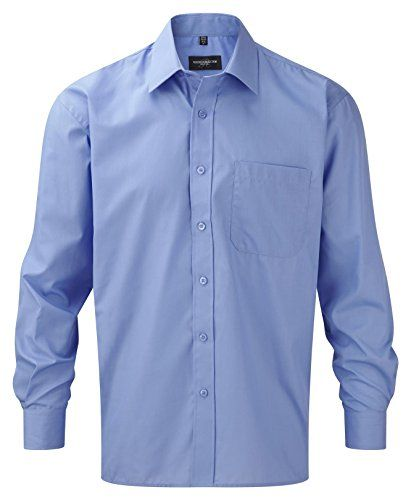 Russell Collection Long Sleeve Easy Care Poplin Shirt : C…