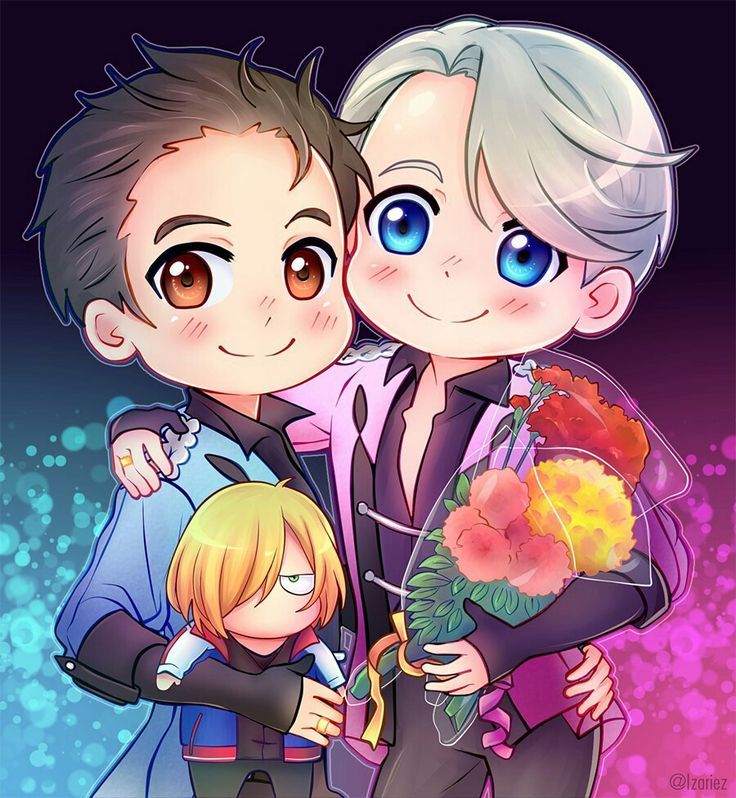 Yuri on ice victor yuuri and yurio chibi