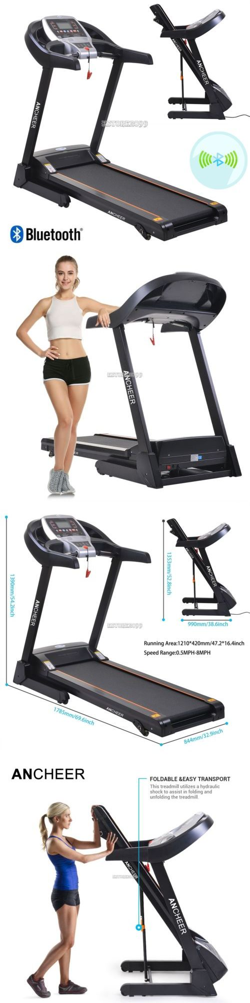 Treadmills 15280: Bluetooh Electric Treadmill Running Machine Motorized Cardio Gym>Mp3 ,Commercial -> BUY IT NOW ONLY: $454 on eBay!