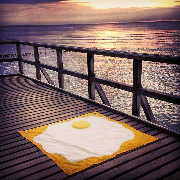 #picnic #blanket #picnicblanket #picnicrug #egg #handmade #design #sea #seaside