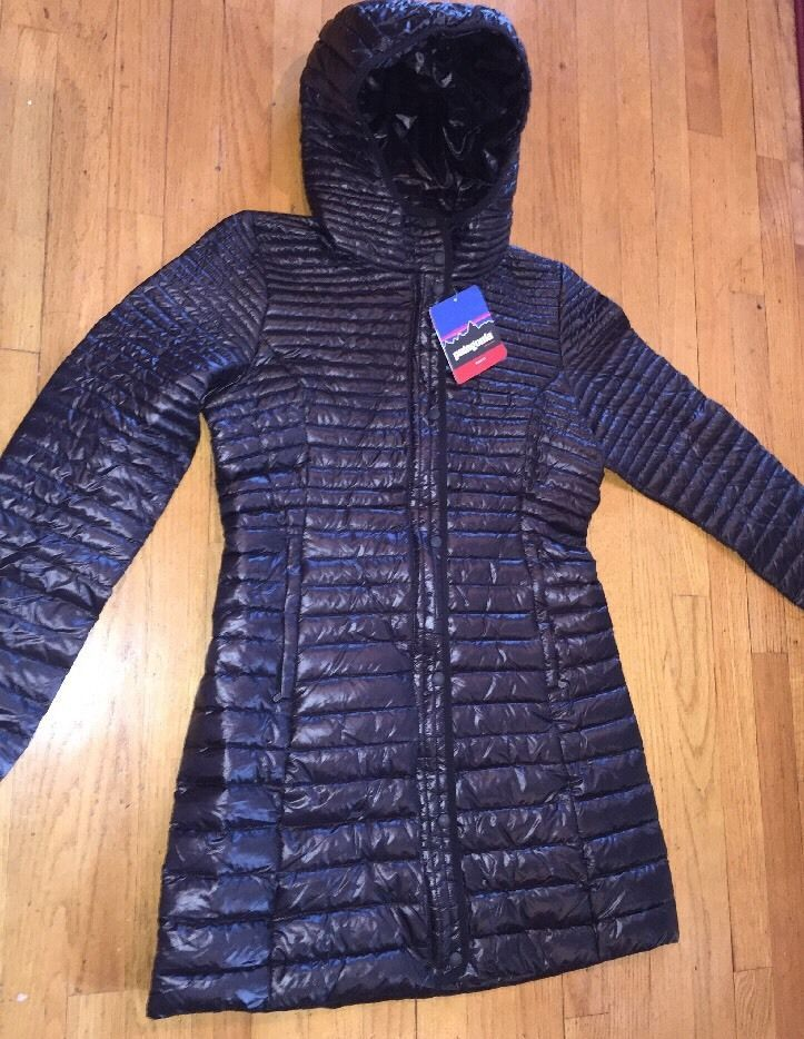 2014 Women's Patagonia Lightweight Fiona Parka Down Jacket Black Small #Patagonia #Parka