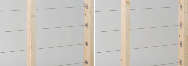 木製支柱用ワイヤー手摺「ウッドテンショナー」|マツダ金属製作所