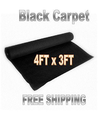 3ft x 4ft BLACK DJ CAR SUB SPEAKER BOX CARPET TRUNK LINER  Indoor/Outdoor Carpeting  Synthetic Fiber  BLACK 4' x 3'