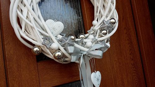 Pravá romantická zima ..vánoční věnec na dveře