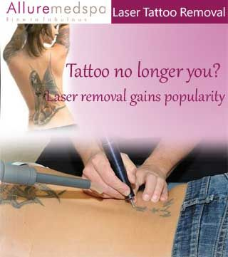 Permanent tattoos aren't as permanent as they once used to be, thanks to advanced laser tattoo removal procedures that can effectively diminish or completely remove even the darkest and largest tattoos, professional and amateur – as well as permanent makeup tattoos.    Black, brown, red, dark blue and tan tattoos can be removed with laser treatment. Tattoos that are mostly yellow or light blue are harder to remove.