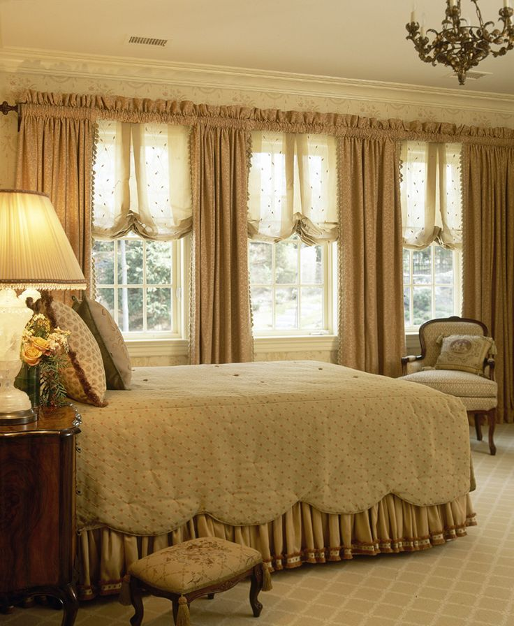 Interior Designer NYC Portfolio- Luxurious, Open Bedroom in French Country Westchester Estate