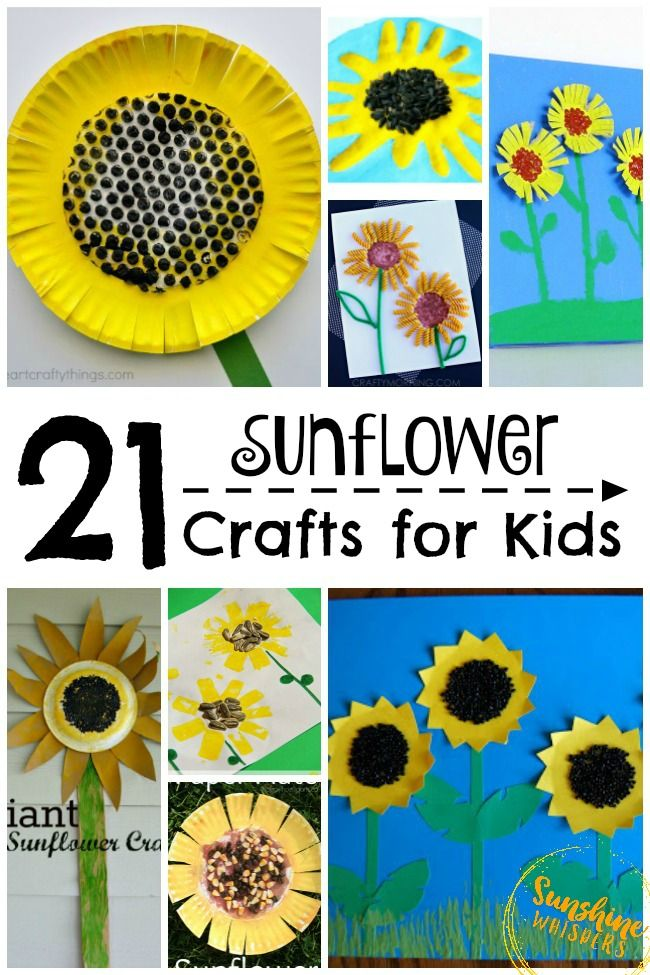 These sunflower crafts for kids have got to be the happiest crafts I have seen in a long time. Super cute and easy enough for preschoolers and toddlers to create as well!