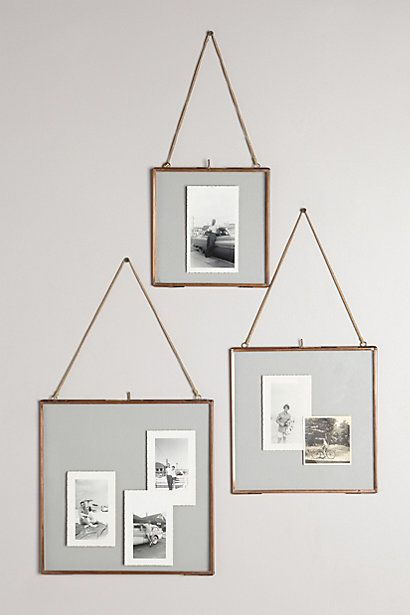 Glass frames for dried flowers and plants and polaroids