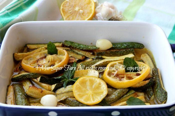 Zucchine marinate al limone