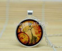 10 шт. стимпанк часы кулон старый лондон стимпанк часы ожерелье часы в стиле стимпанк украшения из стекла кабошон NecklaceA1514(China (Mainland))