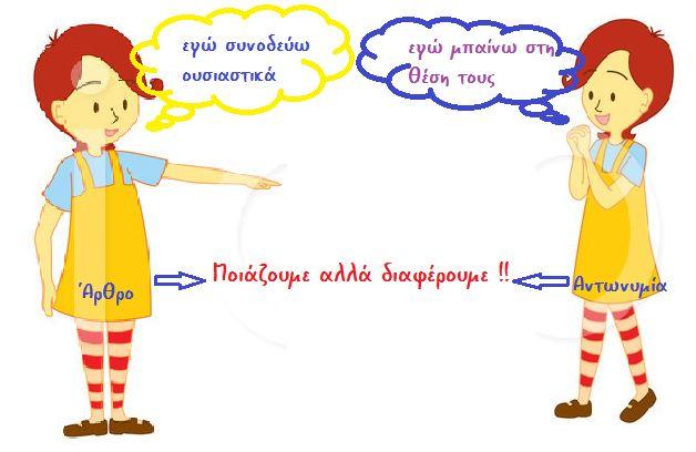 Οι προσωπικές αντωνυμίες φανερώνουν τα τρία πρόσωπα του λόγου.