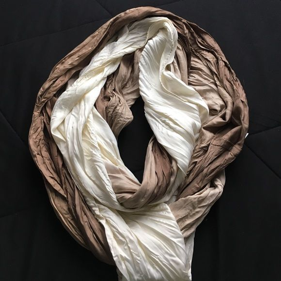 Brown ombré scarf Brown silky ombré infinity scarf. Never been worn. Apt. 9 Accessories Scarves & Wraps