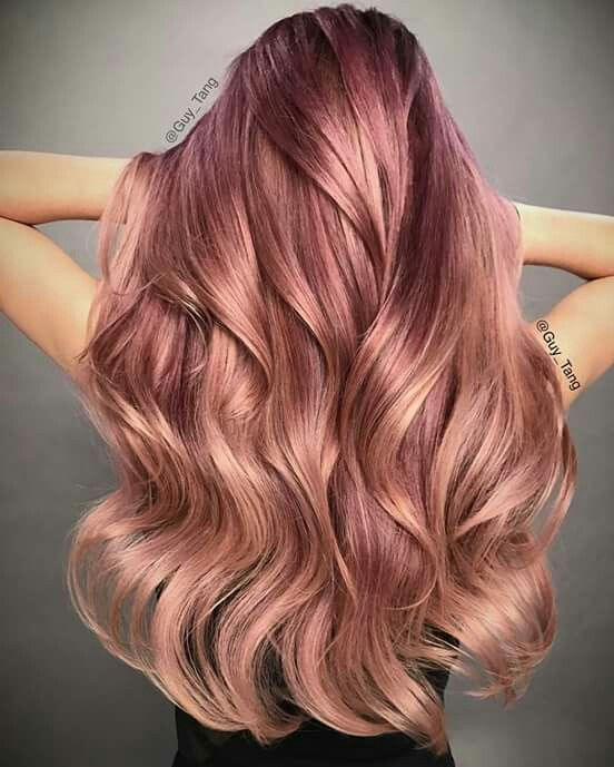 #Valentine ready with this romantic #RoseGold ombre using Guy Tang Mydentity color in demi 7Rg and 9Rg with a splash of of 8DL Lavender near the rootagé to give it so dimension and pink glow dual booster❤