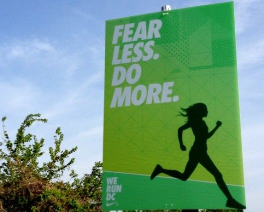 motivation to finish The Nike Women's half marathon, but a good reminder for every day.
