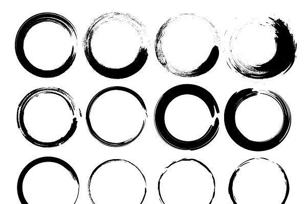 Grunge Circle Circle Circle Tattoo Grunge