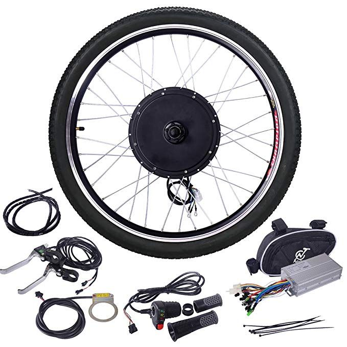 Jaxpety 48v 1000w Electric Bicycle Cycle E Bike 26front Rear Wheel Ebike Hub Motor Conversion Kit Hub Mo Electric Bike Kits Best Electric Bikes Powered Bicycle