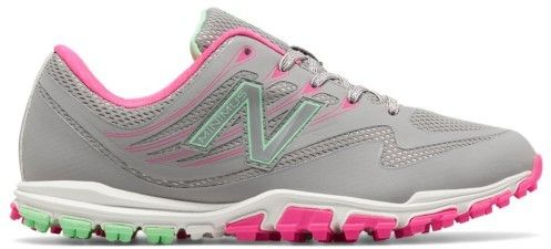 New Balance Women's Minimus Spikeless Mesh Golf Shoe, 7 Medium Gray/Pink