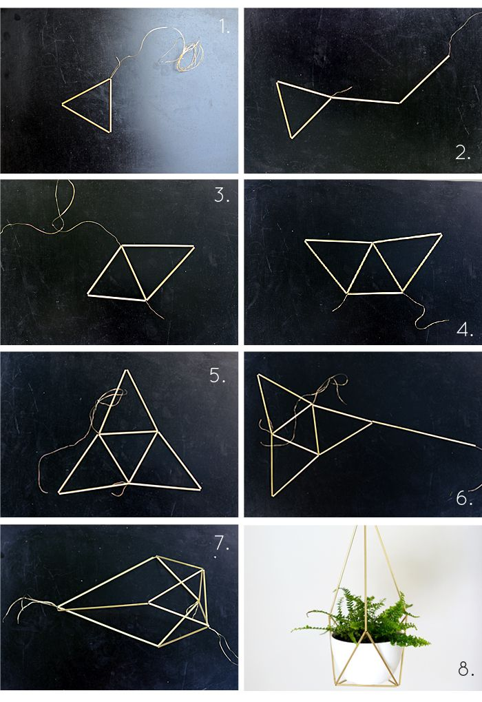 DIY Brass Himmeli Hanging Planter Step-by-Step Tutorial by Nalle's House もっと見る