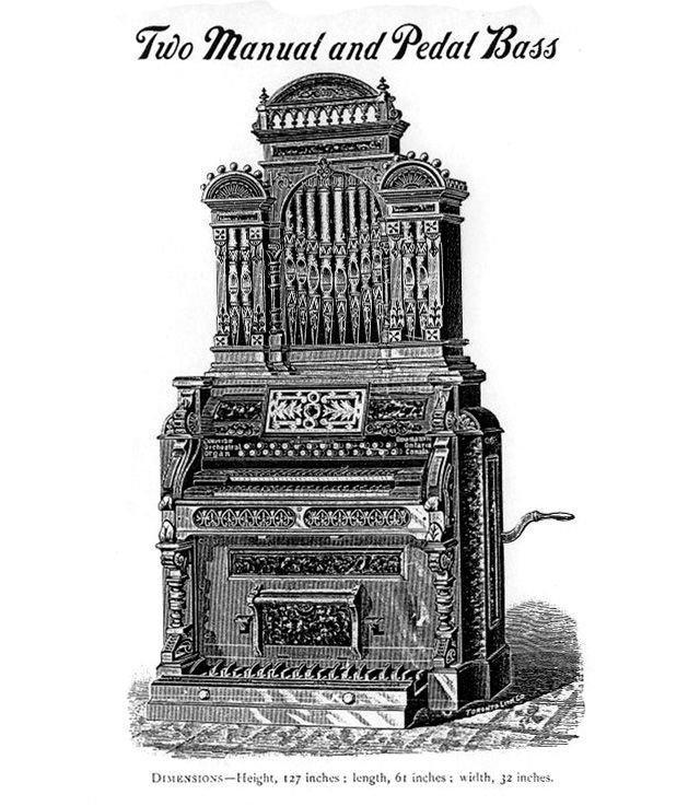 Dominion 1891 - 2MP Reed Organ with Pipe Top No.2