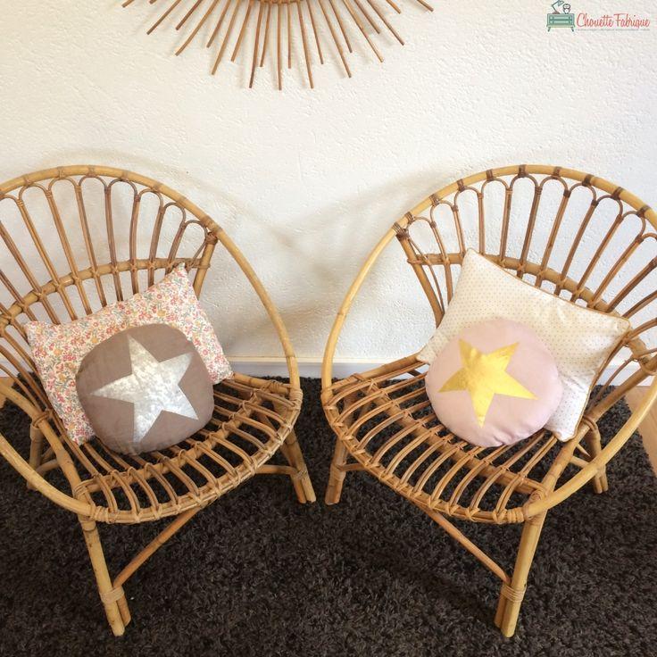 Octave le fauteuil en rotin des annees 60 vintage par Chouette Fabrique