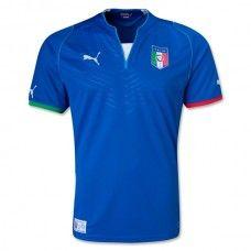 Футболка сборной Италии. Italy home. 2013-2014. Футбольная форма.