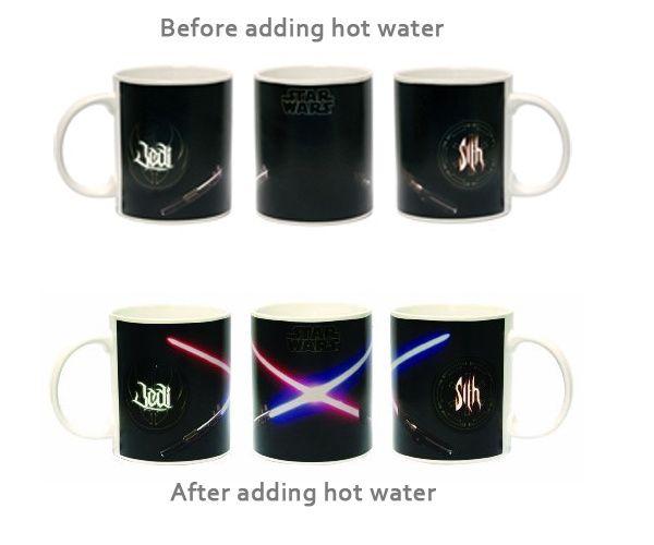 Star Wars Lightsaber Heat Change Mug  #fathersdaygifts #giftsformen #giftsfordads