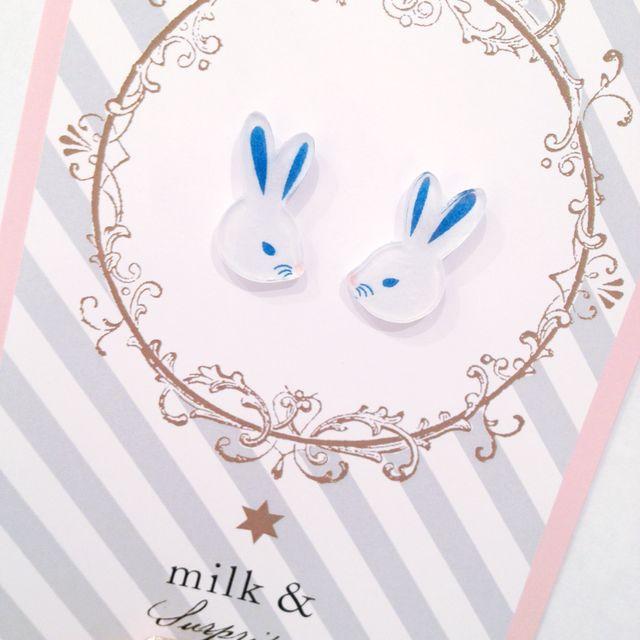 pyon rabbit earrings