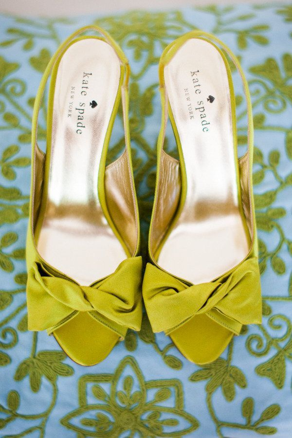 Chartreuse Wedding Color Palette : Modern & fun wedding palette | shoes from Kate Spade | Photography by laurengabrielle.com