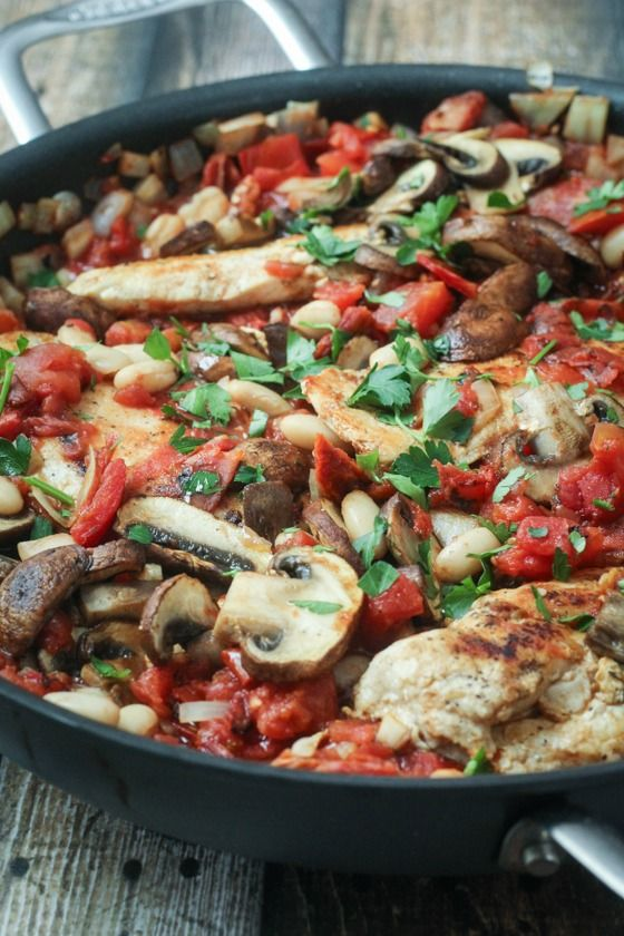 Tuscan Chicken Skillet - One Pan, 45 Minutes, and dinner is served! - Omit the sugar or use a substitute for a really low carb dinner