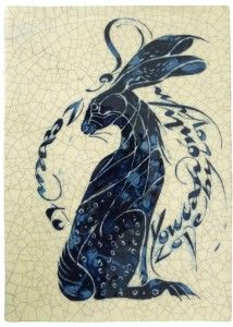"""IM 61 - Hare """"You can only learn to love by loving"""" Artist: Iris Milward"""