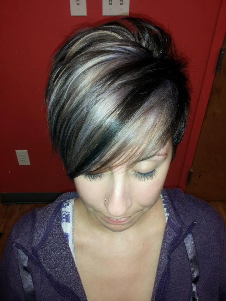 ... Hair, Gray Hair, Hair Colors, Brunettes Hair, Grey Highlights Hair